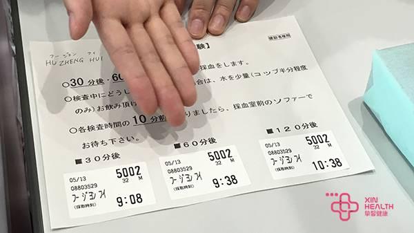 日本体检 糖负荷测试检查时间表
