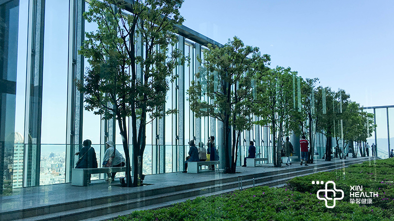 日本高级体检部所在大楼中层观景台