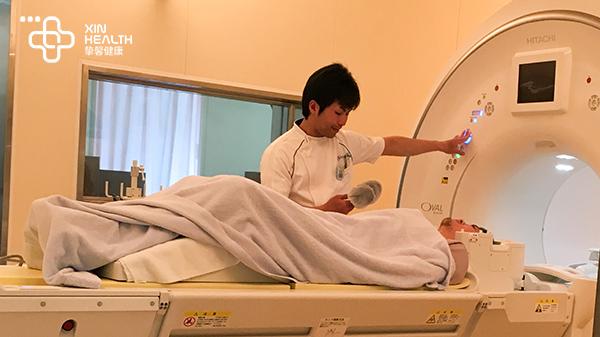 日本体检 用户正在核磁共振检查