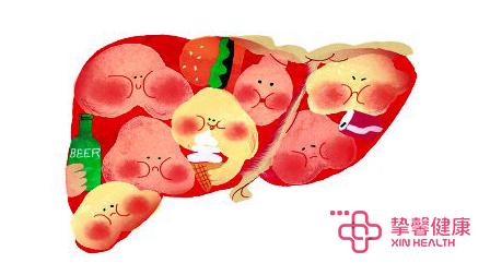 不健康的肝脏
