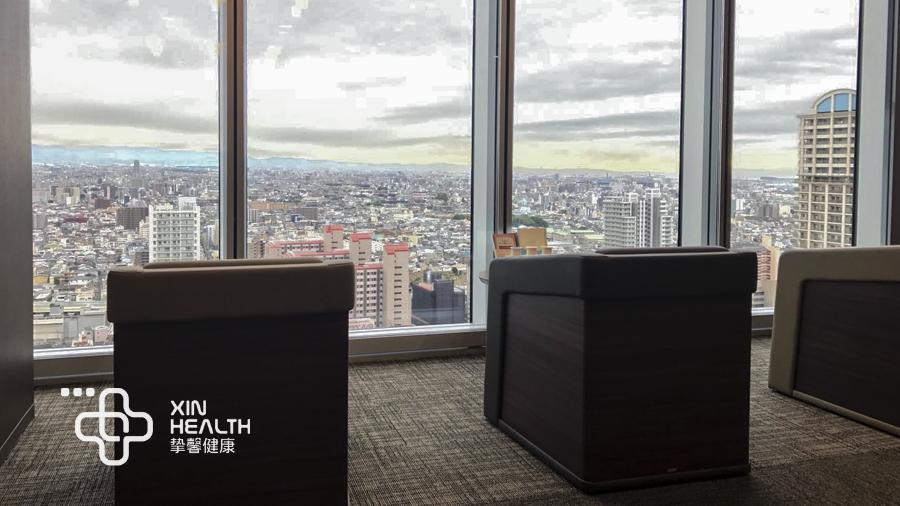 大阪市立大学医学院附属医院高级体检中心内休息区