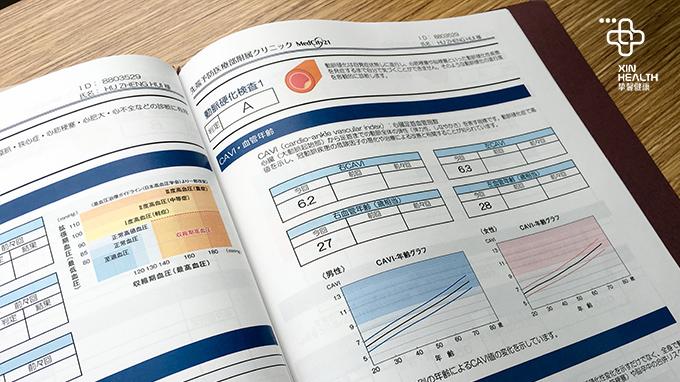 厚厚的日本版体检报告
