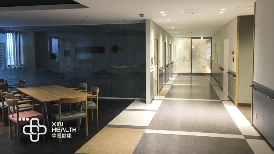 日本健康体检中心部分科室走廊