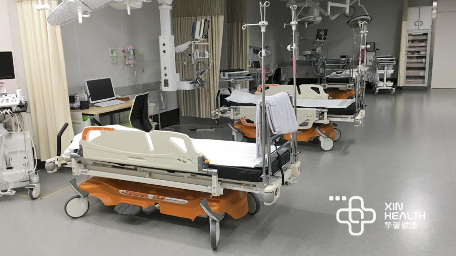 日本高级体检医院急诊部病床