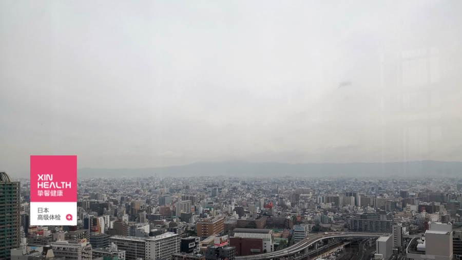 在日本体检中心俯瞰日本全景