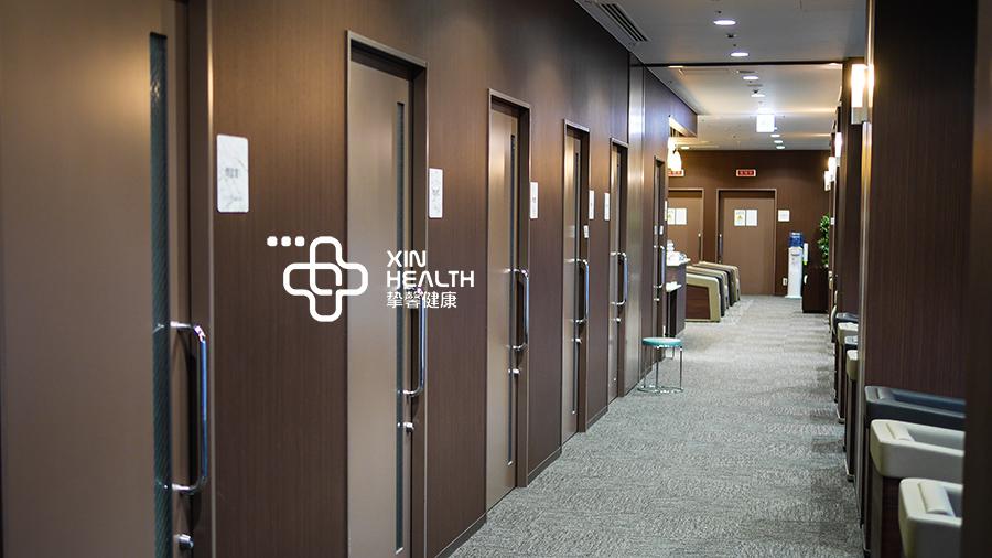 干净舒适的日本体检科室走廊