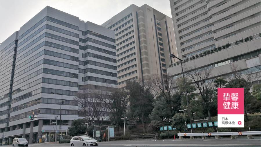 日本体检医院大楼外部风景