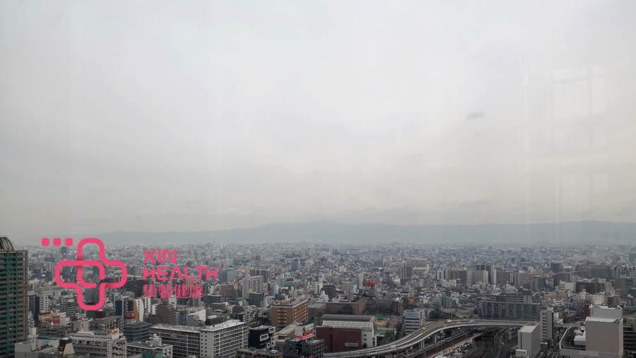 日本体检部大楼欣赏大阪市风景
