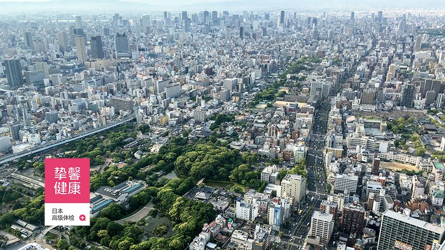俯瞰大阪市全景