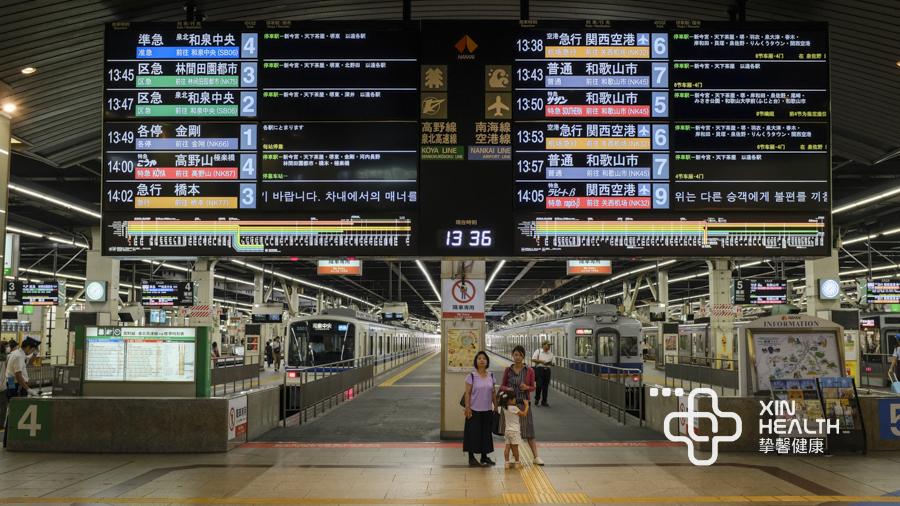 发达的日本JR轨道交通指示牌