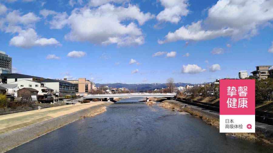 日本京都鸭川风景