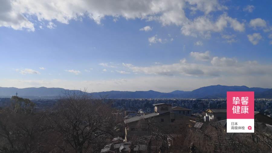 日本京都清水寺俯瞰景色