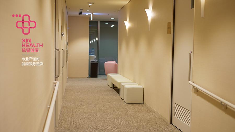 粉红色系的女性体检区域