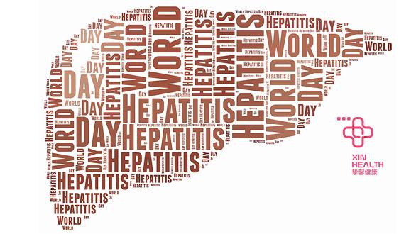 """""""世界肝炎日""""的宣传图"""