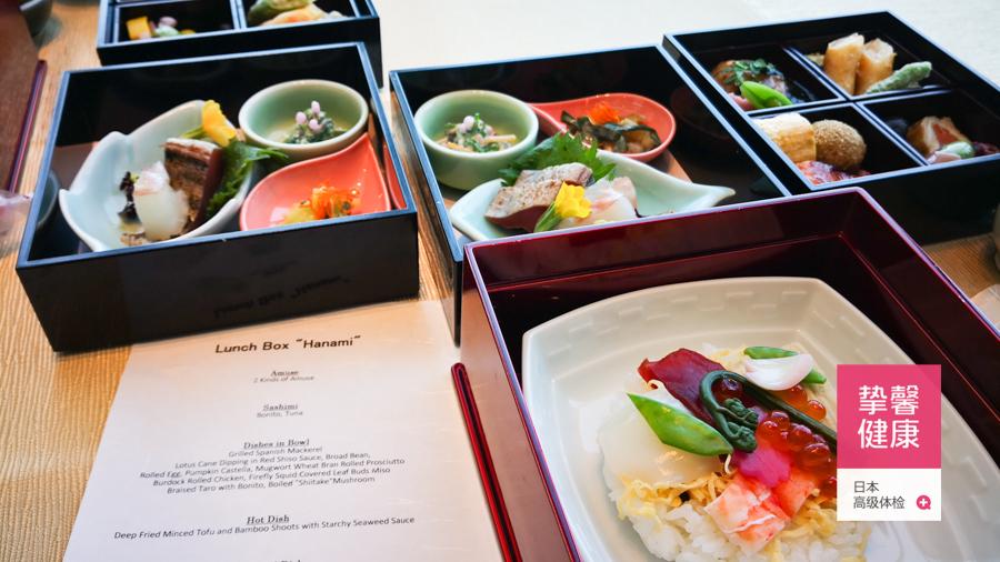 日本高级体检 顶楼景观餐厅餐食