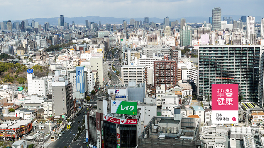 日本大阪市区景色