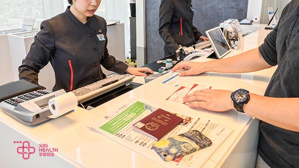 日本高级体检 万豪酒店前台办理入住手续