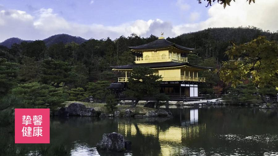 日本京都金阁寺风景