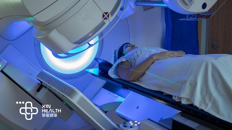 癌症患者正在进行放疗