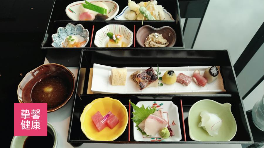 日本高级体检 景观餐厅餐食