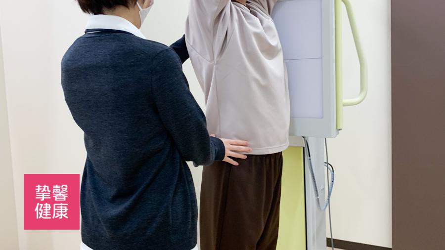 日本体检高级套餐中拍摄胸片