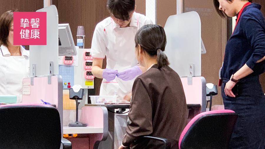 日本体检用户体检第二日上午准备采血