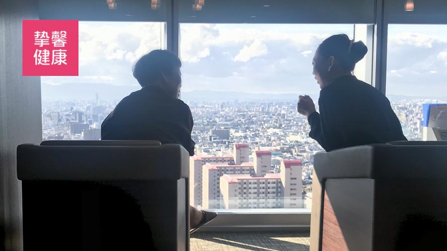 日本高级体检医院的体检休息区
