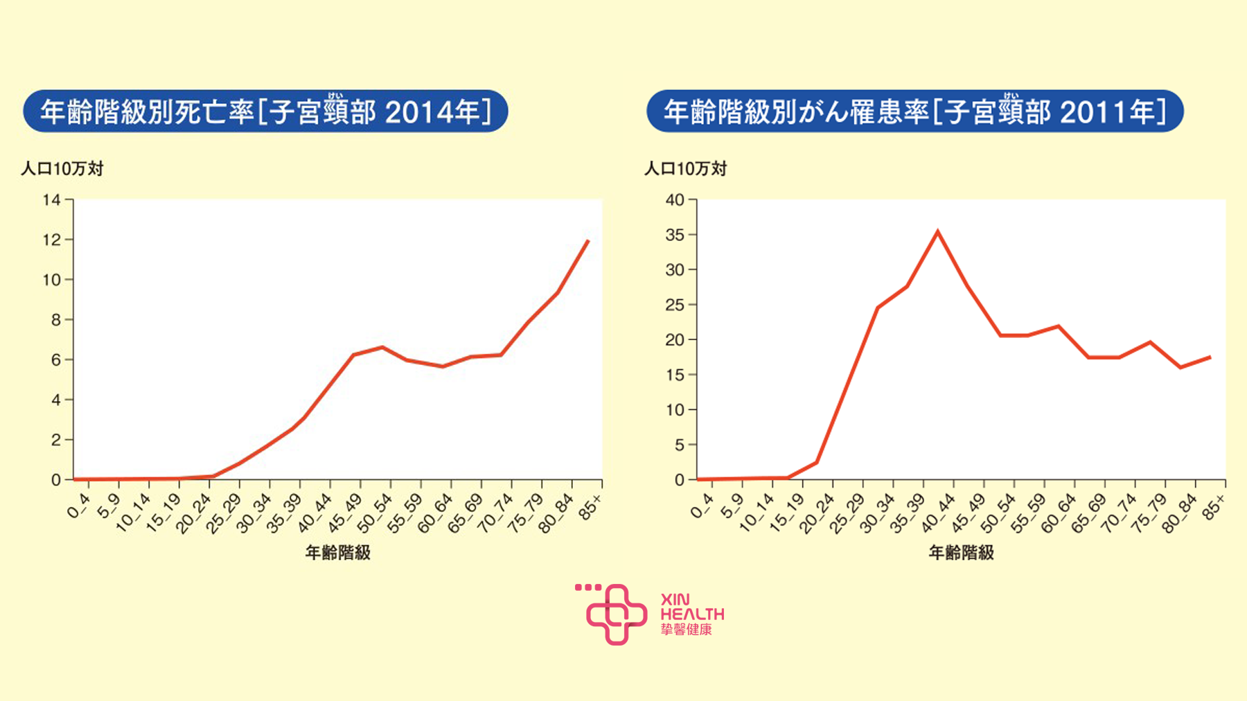 各年龄层宫颈癌死亡率