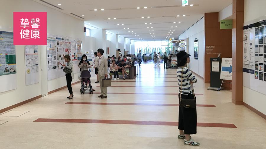 日本癌研有明医院内部走廊