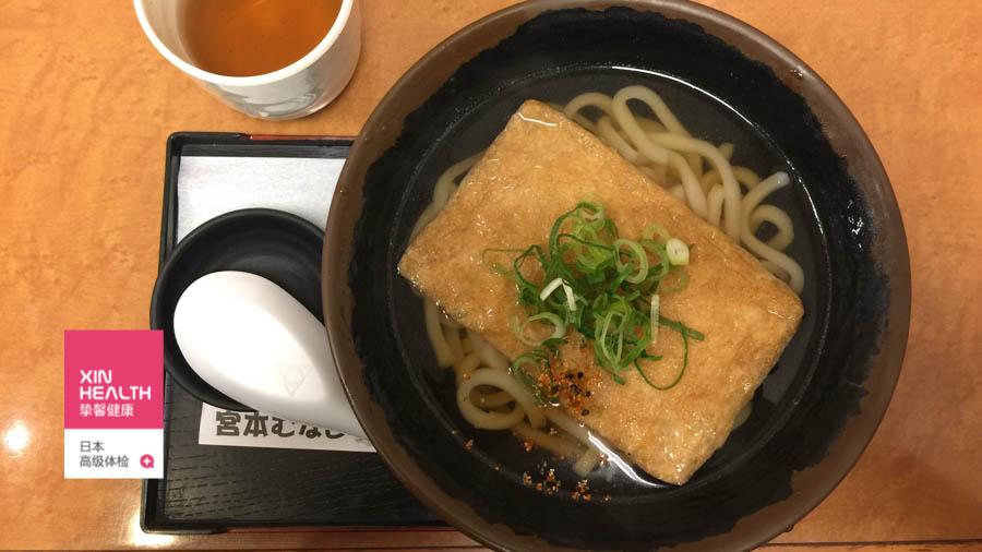 日本美食 油豆腐乌冬面