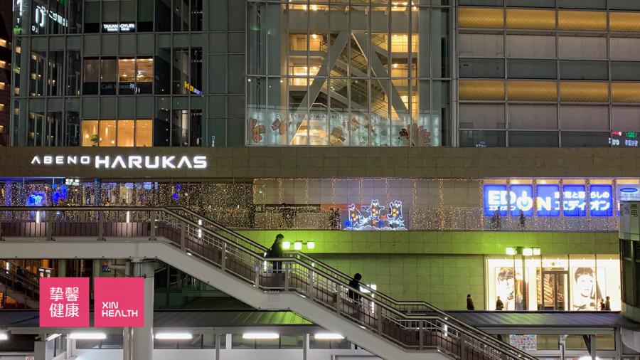 日本大阪市内独特的夜景