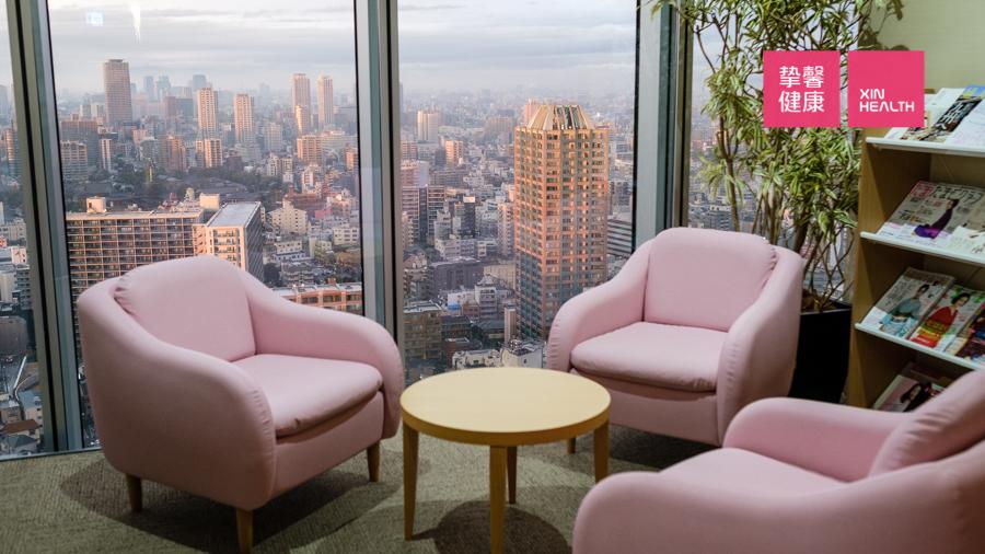 干净舒适的日本体检女性等候区