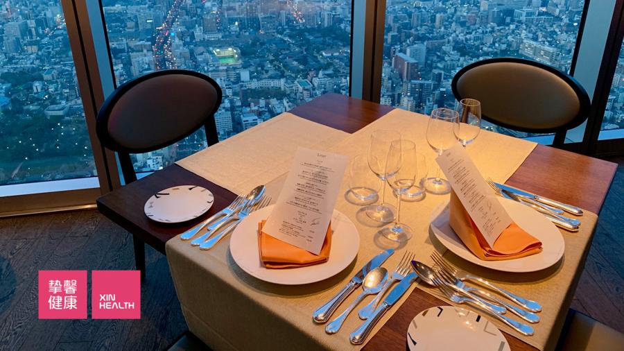 日本高级体检 顶楼观景餐厅