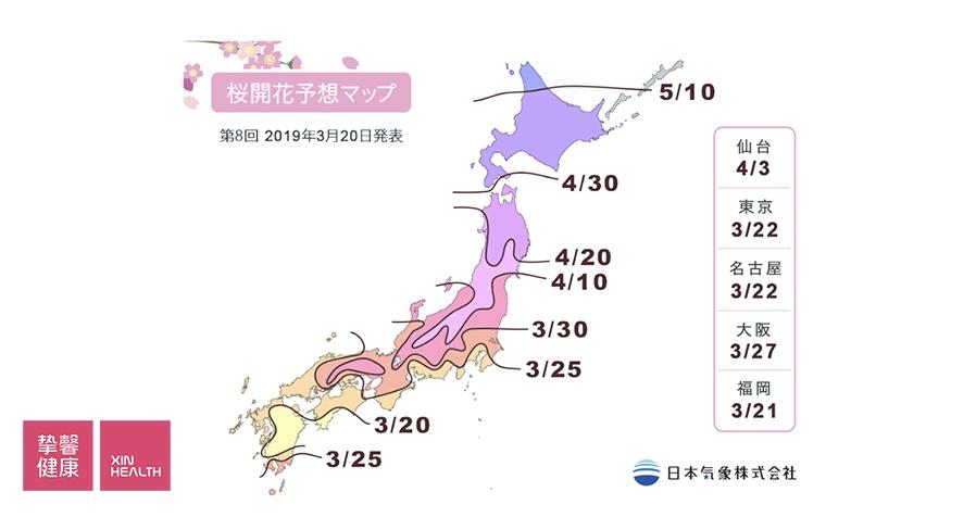 2019年度樱花满开日期预测