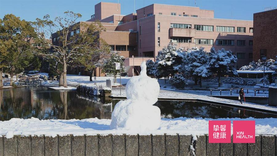 筑波大学冬日景色