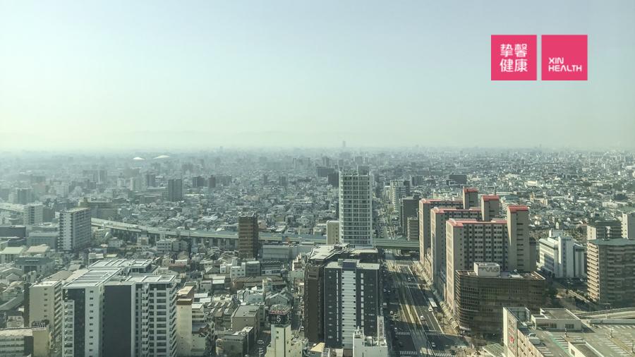 体检大楼可俯瞰大阪全城