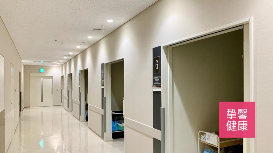 日本体检 癌研有明医院体检科室走廊