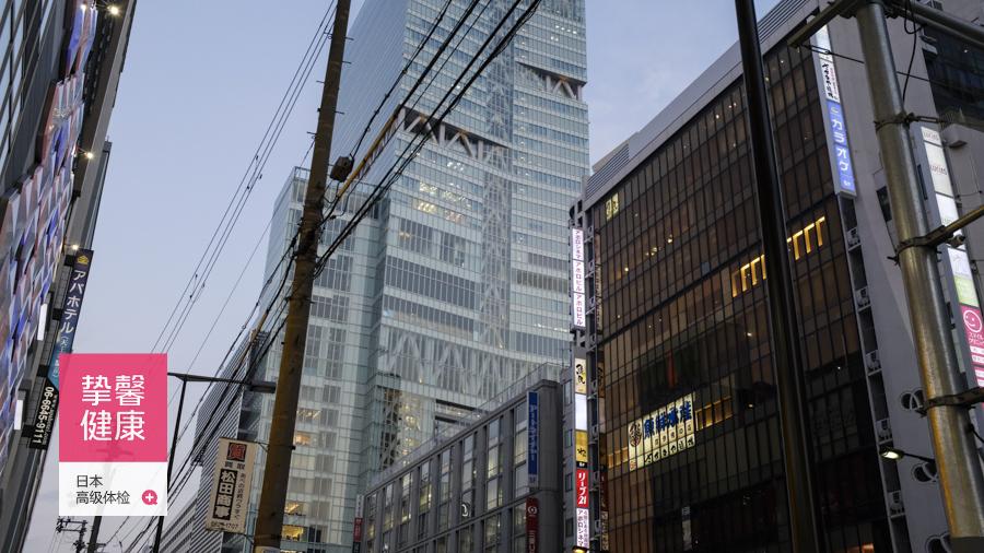 大阪市立大学医学部附属医院体检部所在大楼