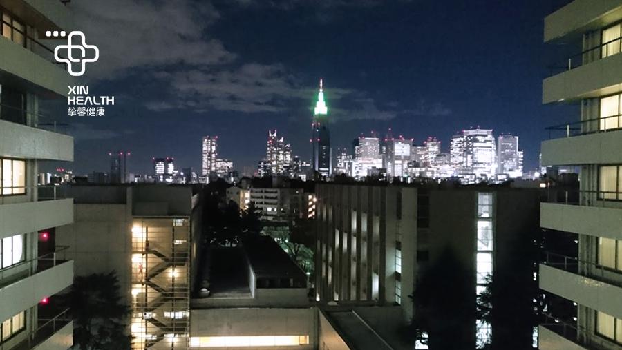 从庆应医院病房看到的夜景