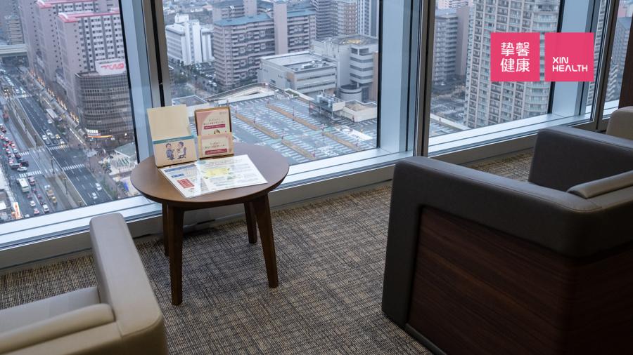 日本高级体检 体检部门内部等候区