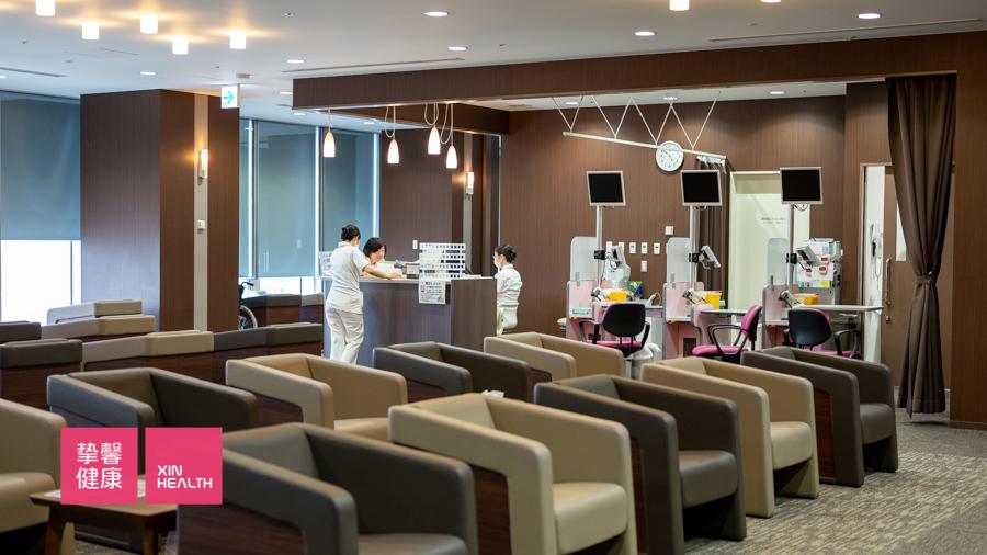 日本高级体检部 内部休息区环境