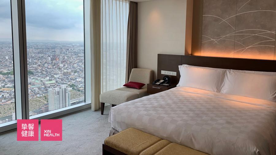 日本2日高级体检  入住酒店房间内部