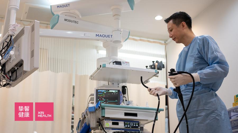 日本2日高级体检肠镜检查  西山老师调试设备