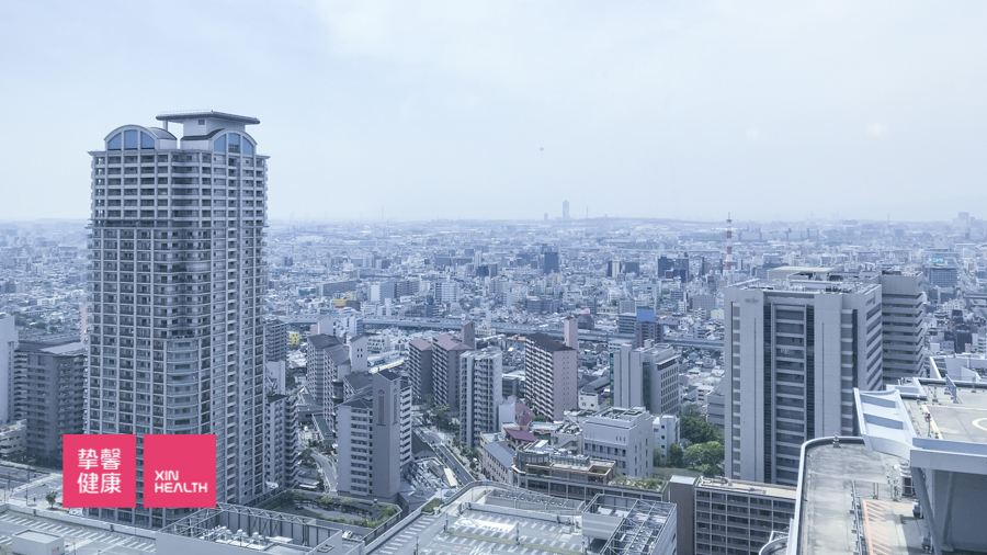日本高级体检 体检部大楼周围环境