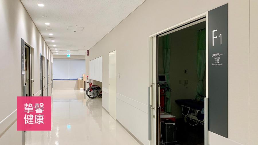 日本高级体检 癌研有名医院体检科室走廊