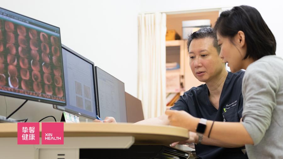 日本高级体检结束后 医生与用户专业详细的解释