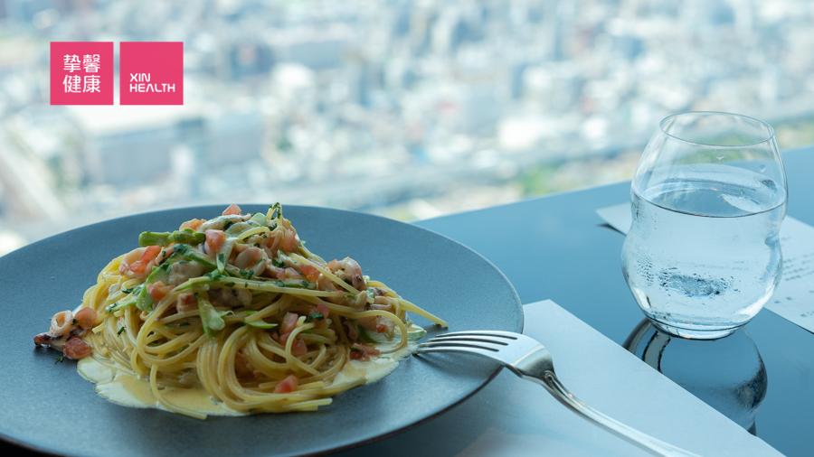 日本体检 顶楼景观餐厅餐食