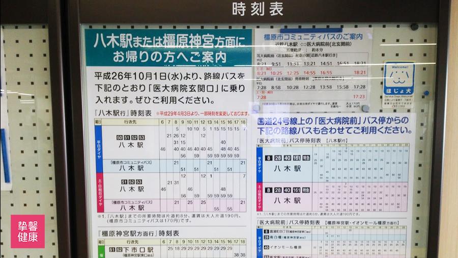 奈良县立医科大学附属医院 八木站列车时间表
