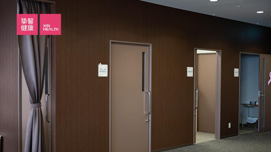 日本体检 体检部检查科室走廊