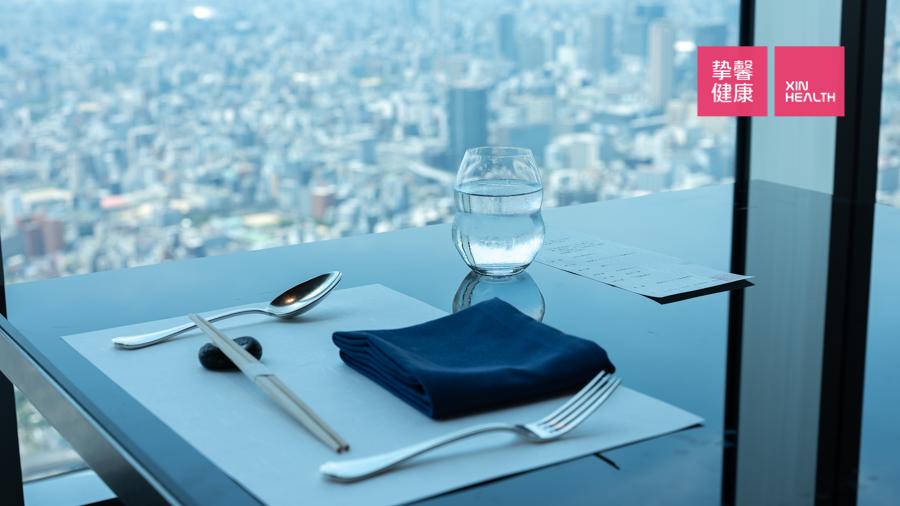 日本高级体检部所在大楼 顶楼景观餐厅